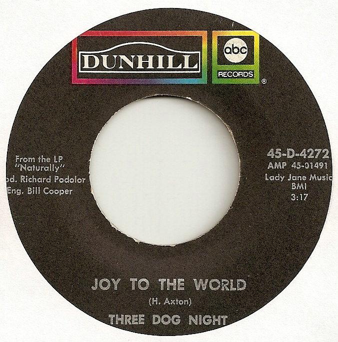 JOY TO THE WORLD - Three Dog Night record cover