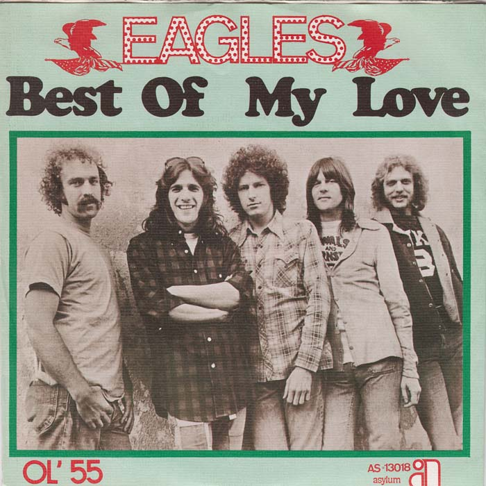 Eagles Best of My Love single cover - Released 1974
