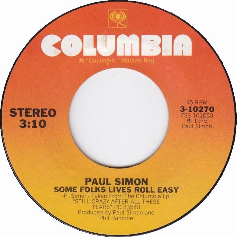 paul-simon-some-folks-lives-roll-easy-columbia