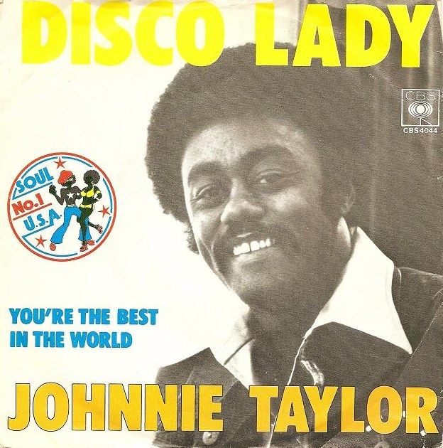 DISCO LADY - Johnnie Taylor record cover