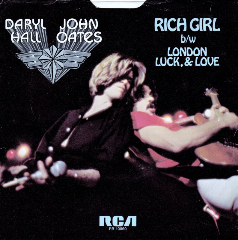RICH GIRL - Daryl Hall and John Oates record cover