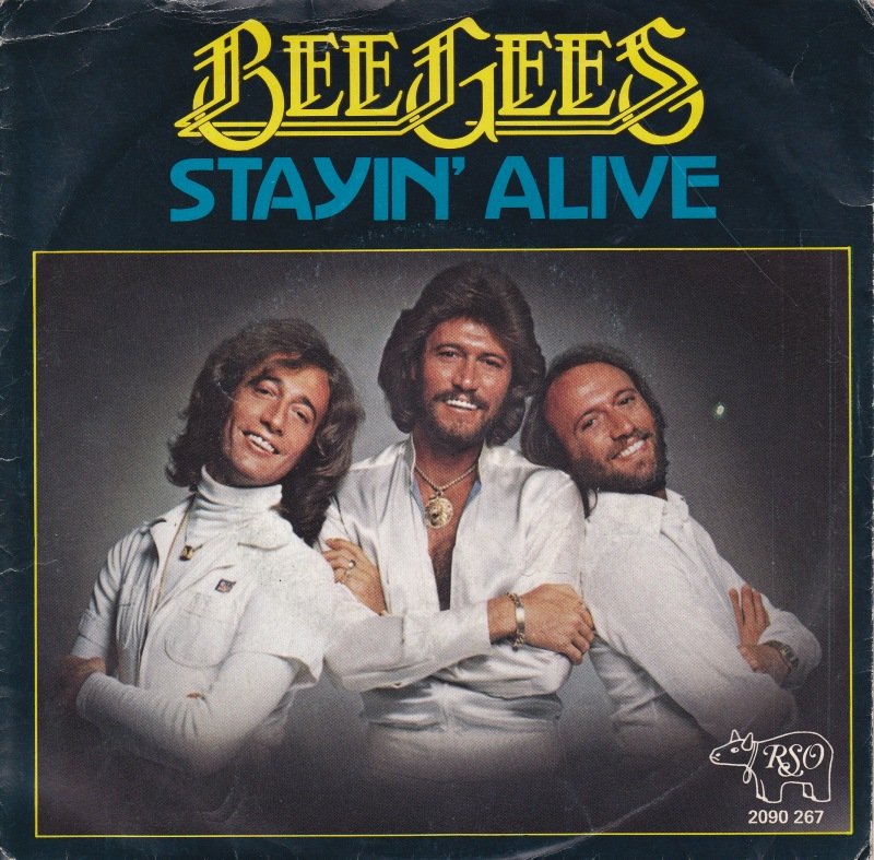 STAYIN' ALIVE - The Bee Gees record cover