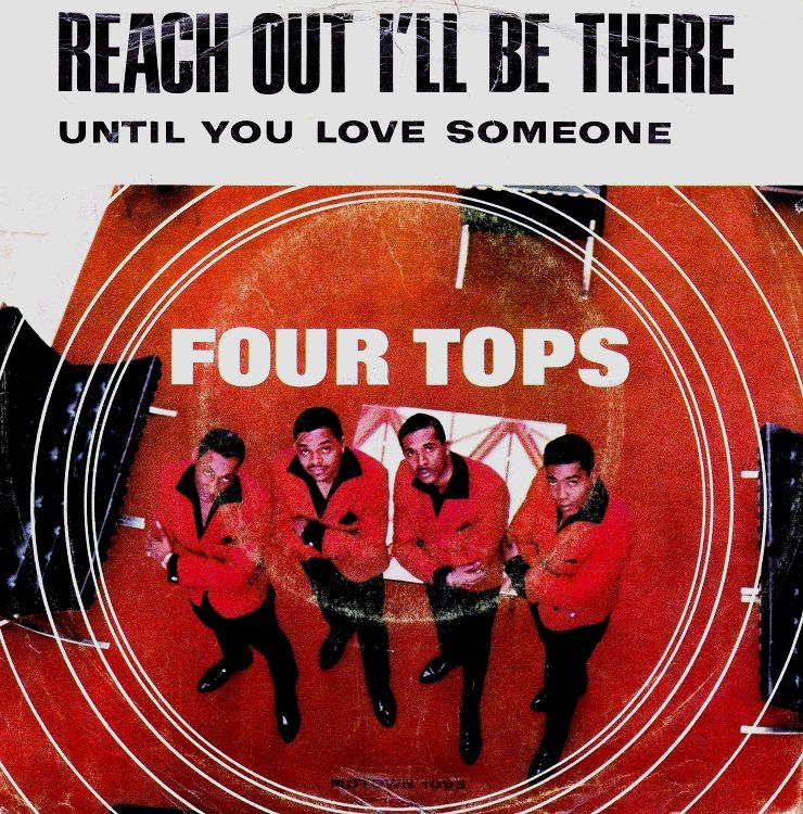 The Four Tops - Reach Out I'll Be There 7-inch label