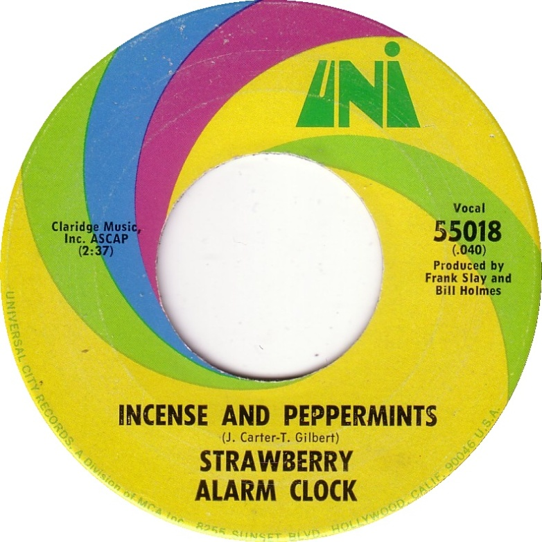 Strawberry Alarm Clock - Incense and Peppermints 7-inch label