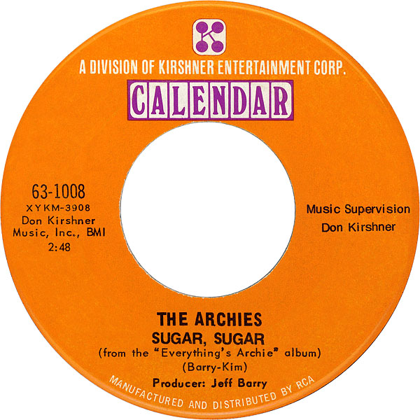 The Archies - Sugar, Sugar 7-inch label