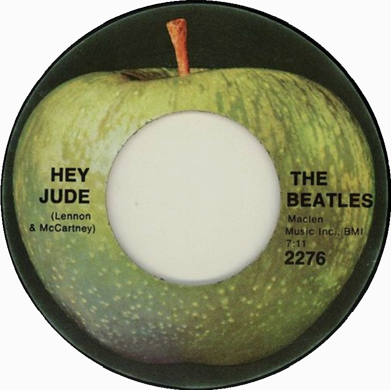 The Beatles - Hey Jude 7-inch label