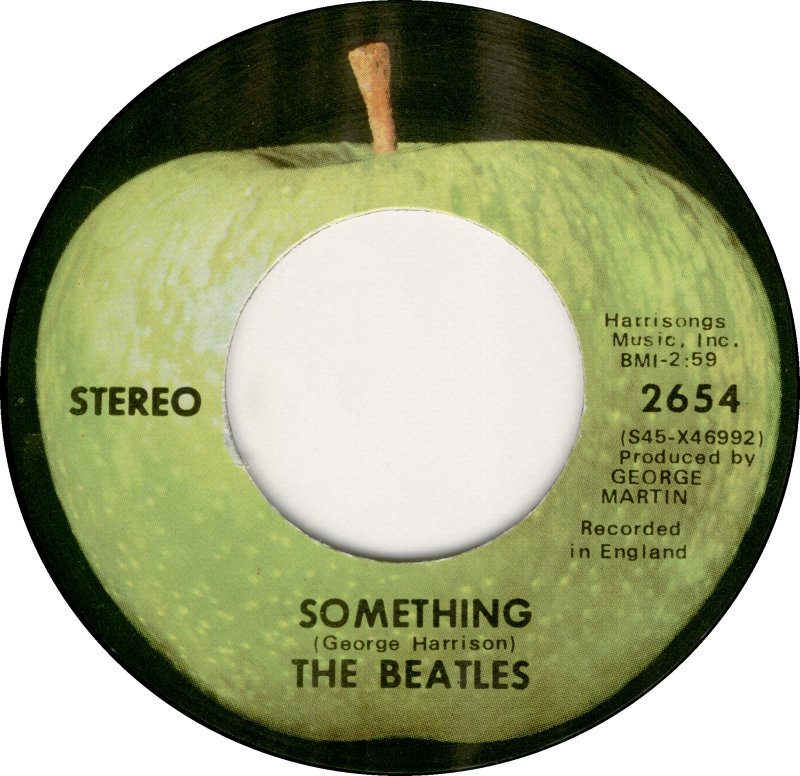 The Beatles - Something 7-inch label