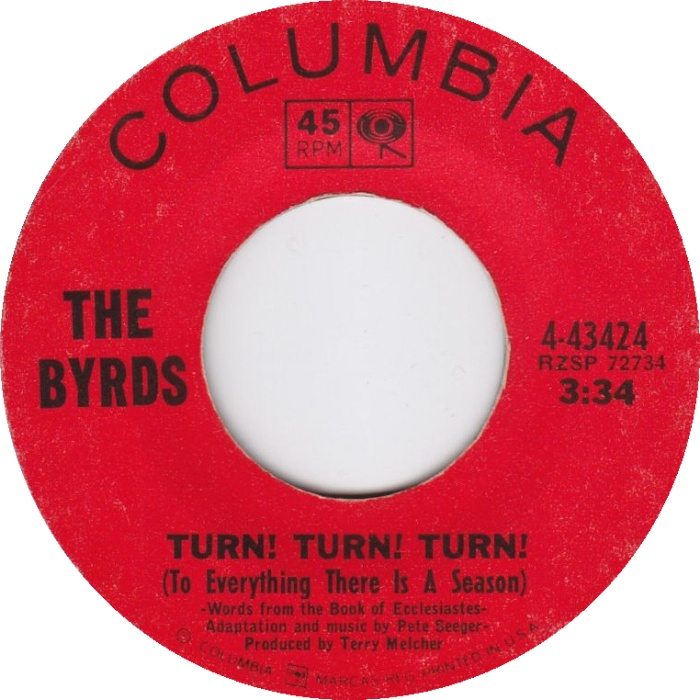 The Byrds - Turn! Turn! Turn! (To Everything There Is a Season) 7-inch label