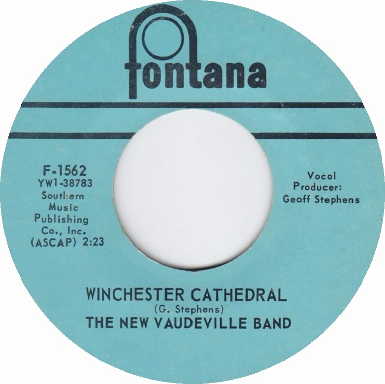 The New Vaudeville Band - Winchester Cathedral 7-inch label