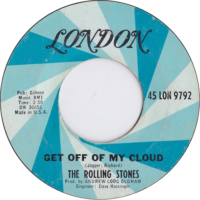 The Rolling Stones - Get Off My Cloud 7-inch label