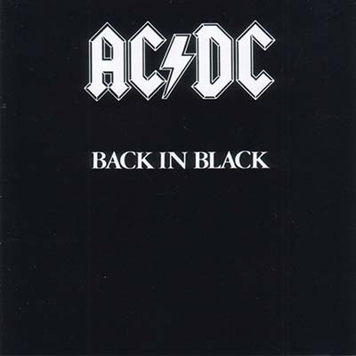 AC/DC Back in Black record cover