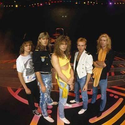 80's band Def Leppard posing - circa 1988