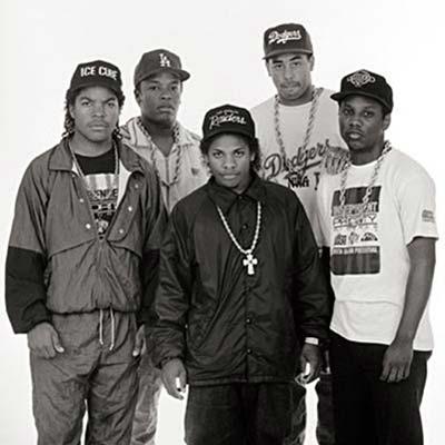 80's rap group N.W.A. circa 1980's