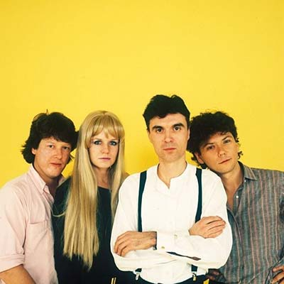 80's band Talking Heads posing circa 1980's