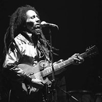 Bob Marley in concert in 1980, Zürich, Switzerland
