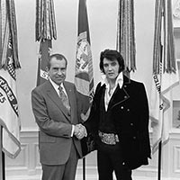 Elvis Presley with Richard Nixon December 1970