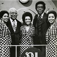 The Staple Singers appearing on Soul Train June 1974