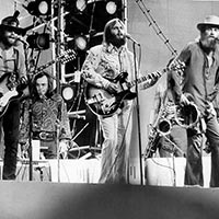 The Beach Boys performing in Central Park, New York, 1971