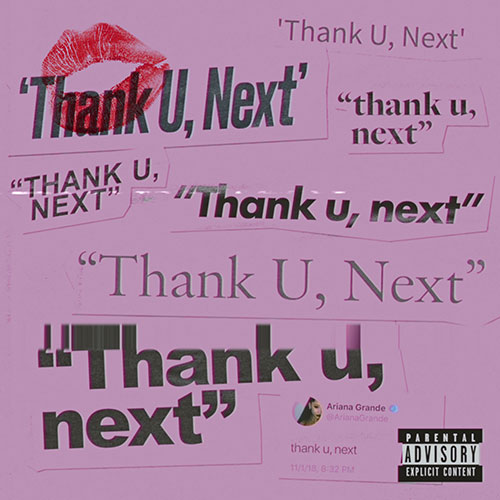 Ariana Grande thank u, next record cover