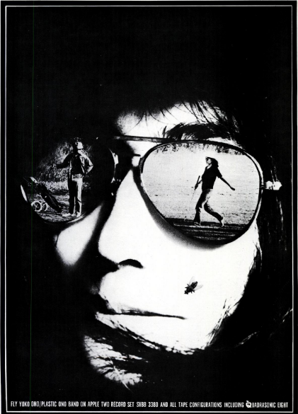 Promotional photo of John Lennon for September 18th, 1971 issue of Billboard Magazine